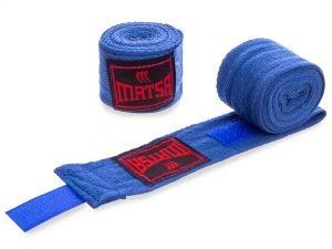 Бинты боксерские (2шт) хлопок MATSA MA-0030-2,5 (l-2,5м, цвета в ассортименте) - Цвет Синий