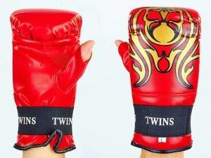 Снарядные перчатки с открытым большим пальцем DX TWINS (р-р M-XL, цвета в ассортименте) - Красный-L