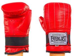 Снарядные перчатки с эластичным манжетом на липучке Кожа ELAST (р-р M-XL, цвета в ассортименте) - Красный-M