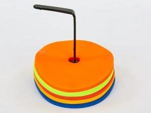 Набор плоских кругов-маркеров для разметки (25шт) (резина, d-16см, на подставке)