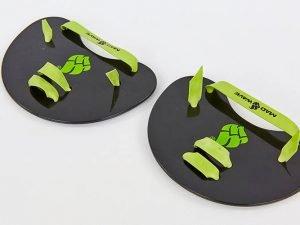 Лопатки для плавания гребные MadWave FINGER PADDLES0 (полипропилен, силикон, р-р15×15,5см, черный)
