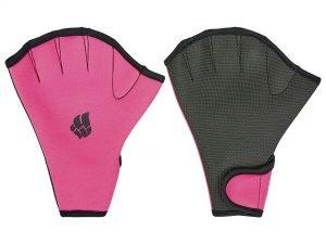 Перчатки для аквафитнеса MadWave (неопрен, р-р S(18-20см), М(21-22см), L(23-24см), розовый) - L