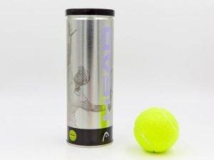 Мяч для большого тенниса HEAD (3шт) SILVER METAL CAN (в вакуумной упаковке)
