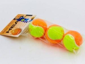 Мяч для большого тенниса HEAD (3шт) TIP-OR (для детей 8-9 лет, в пакете)
