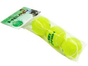 Мяч для большого тенниса HEAD (3шт) TIP-GR (для детей 9-10 лет, в пакете)