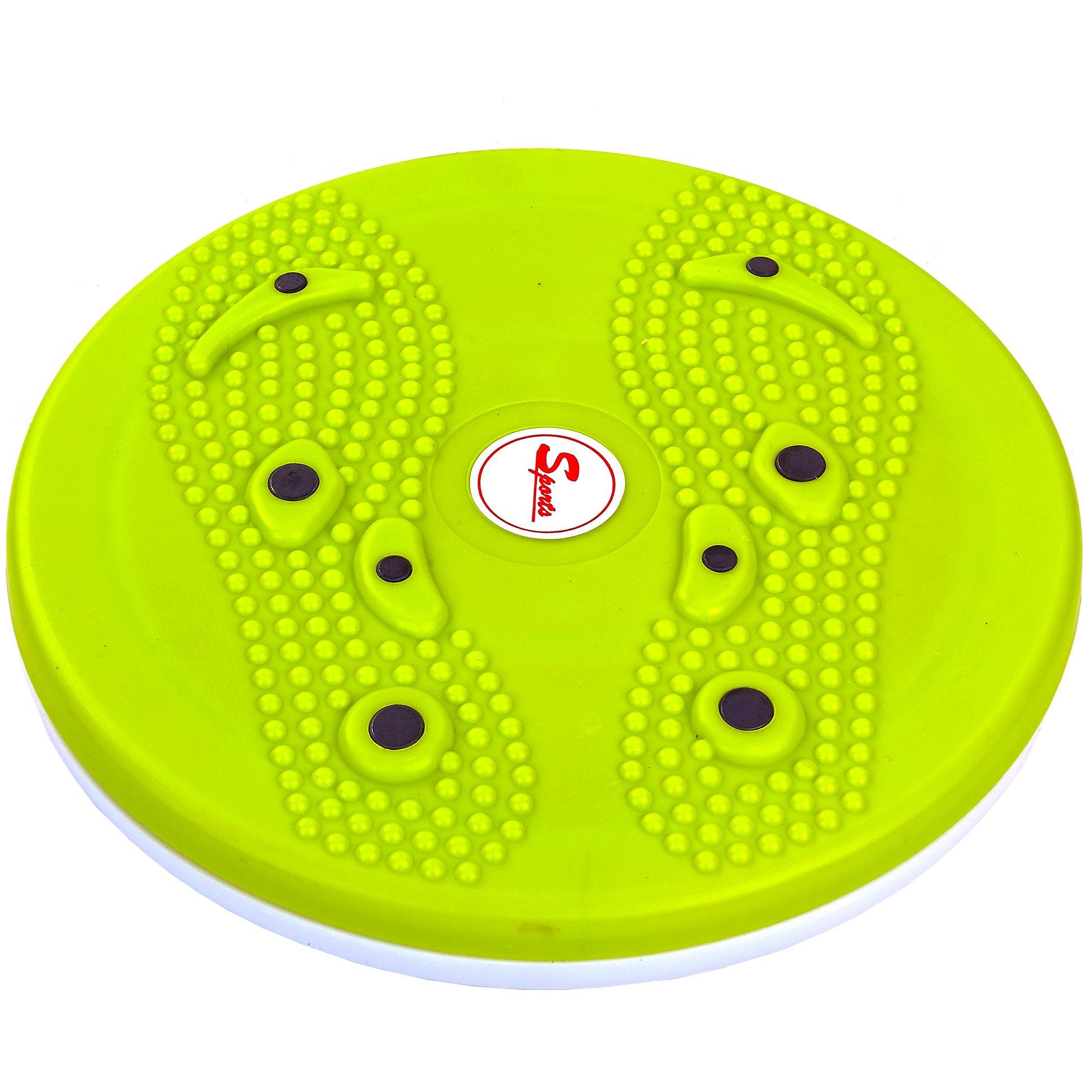 Диск здоровья с магнитами и массажером рефлекторных зон на стопах Pro Supra (пластик, толщина-2,5см d-25см)