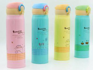 Бутылка для воды-термос SP-Planeta Beautiful World 500 мл (сталь, голубой, розовый, оранжевый, зеленый)