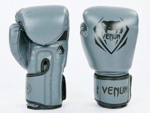 Перчатки боксерские PU на липучке VNM (р-р 8-12oz, серебряный) - 8 унции