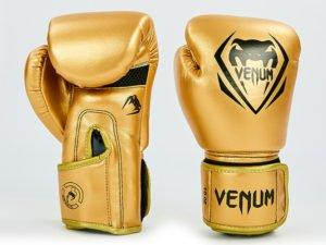 Перчатки боксерские PU на липучке VNM (р-р 8-12oz, золотой) - 8 унции