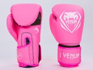 Перчатки боксерские PU на липучке VNM (р-р 8-12oz, розовый) - 8 унции