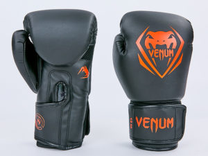 Перчатки боксерские PU на липучке VNM (р-р 8-12oz, черный-красный) - 8 унции