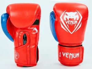 Перчатки боксерские PU на липучке VNM (р-р 8-12oz, красный-синий) - 8 унции
