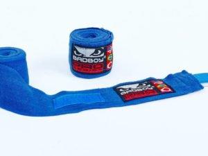 Бинты боксерские (2шт) хлопок с эластаном BAD BOY (l-3м, цвета в ассортименте) - Цвет Синий