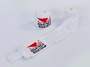 Бинты боксерские (2шт) хлопок с эластаном BAD BOY (l-3м, цвета в ассортименте) - Цвет Белый