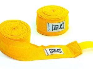Бинты боксерские (2шт) хлопок с эластаном ELAST (l-4м, цвета в ассортименте) - Цвет Желтый