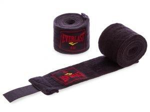 Бинты боксерские (2шт) хлопок с эластаном ELAST (l-3м, цвета в ассортименте) - Цвет Черный