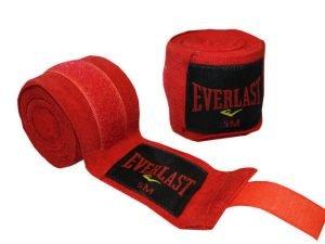 Бинты боксерские (2шт) хлопок с эластаном ELAST (l-5м, цвета в ассортименте) - Цвет Красный
