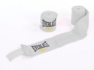 Бинты боксерские (2шт) хлопок с эластаном ELAST (l-3м, цвета в ассортименте) - Цвет Белый