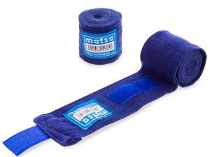 Бинты боксерские (2шт) хлопок с эластаном MATSA (l-2м, цвета в ассортименте) - Цвет Синий