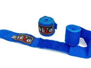 Бинты боксерские профессиональные (2шт) хлопок с эластаном AIBA VELO 4080-4,5 (4,5м, цвета в ассортименте) - Цвет Синий