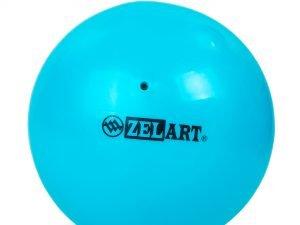 Мяч для пилатеса и йоги Zelart Pilates ball Mini (PVC, d-20см, 400гр, цвета в ассортименте) - Цвет Голубой