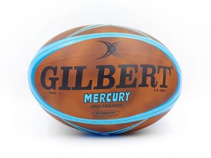 Мяч для регби GILBERT (PU, р-р 12in, №5, коричневый-голубой)
