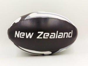 Мяч для регби NEW ZEALAND (PU, р-р 12in, №5, черный-белый)