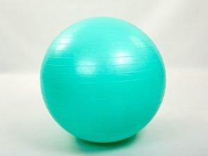 Мяч для фитнеса (фитбол) гладкий глянцевый 65см Zelart (PVC,800г, цвета в ассортименте, ABSтехнология) - Цвет Мятный