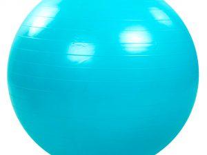 Мяч для фитнеса (фитбол) гладкий глянцевый 75см Zelart (PVC,1000г, цвета в ассортименте, ABS технология) - Цвет Голубой