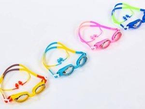 Очки с берушами для плавания в комплекте SPDO (поликарбонат, TPR, силикон, цвета в ассортименте) Replika