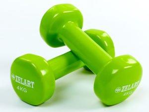 Гантели для фитнеса с виниловым покрытием Beauty (2x4кг) (2шт, цвета в ассортименте) - Цвет Салатовый