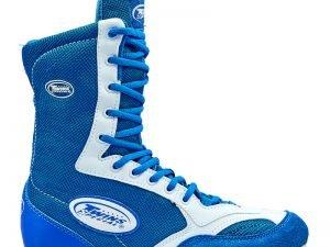 Боксерки замшевые подростковые TWIN BLUE/WHITE размер 35-39 синий - Синий-35