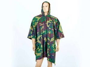 Дождевик плащ-палатка (нейлон, р-р 165*275, цвета в ассортименте) - Цвет Камуфляж Woodland