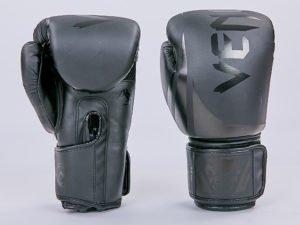 Перчатки боксерские PU на липучке VNM (р-р 8-12oz, черный) - 8 унции