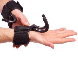 Крюк-ремни атлетические для уменьшения нагрузки на пальцы (2шт) VALEO (PL, металл)