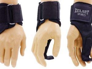 Крюк-ремни атлетические для уменьшения нагрузки на пальцы (2шт) Zelart (PL, металл)