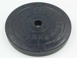 Блины (диски) обрезиненные d-30мм ТА-1444 7,5кг (металл, резина, черный)