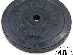 Блины (диски) обрезиненные d-30мм ТА-1445 10кг (металл, резина, черный)