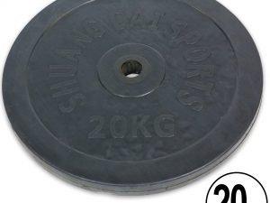 Блины (диски) обрезиненные d-30мм ТА-2188 20кг (металл, резина, черный)