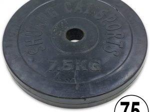 Блины (диски) обрезиненные d-52мм ТА-1803 7,5кг (металл, резина, черный)