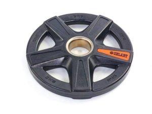 Блины (диски) полиуретановые 5 отверстий с металлической втулкой d-51мм TA-5335- 5 5кг (черный)