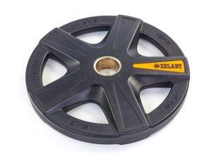 Блины (диски) полиуретановые 5 отверстий с металлической втулкой d-51мм 15кг (черный)