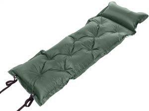 Коврик самонадувающийся с подушкой (полиэстер, размер 1,85мх0,5м, цвета в ассортименте) - Цвет Зеленый