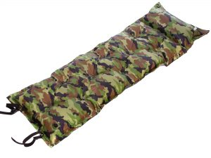 Коврик самонадувающийся с подушкой (полиэстер, размер 1,85мх0,5м, камуфляж)