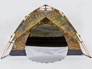 Палатка-автомат с автоматическим каркасом 2-х местная (р-р 2х1,5х1,25м, 2 слоя, PL, камуфляж Лес)