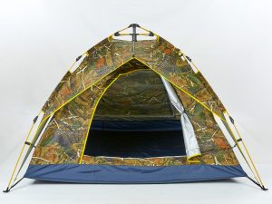Палатка-автомат с автоматическим каркасом 4-х местная (р-р 2х2х1,35м, 2 слоя, PL, камуфляж Лес)