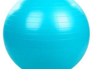 Мяч для фитнеса (фитбол) гладкий сатин 75см Zelart (PVC, 1000г, цвета в ассортименте, ABS технолог) - Цвет Голубой