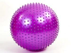 Мяч для фитнеса (фитбол) массажный 55см Zelart (PVC, 900г, цвета в ассор,ABS технолог) - Цвет Фиолетовый