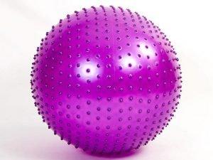 Мяч для фитнеса (фитбол) массажный 75см Zelart (PVC, 1400г,цвета в ассор,ABS технолог) - Цвет Фиолетовый