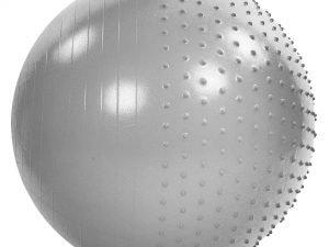 Мяч для фитнеса (фитбол) полумассажный 2в1 85см Zelart (PVC, 1400г, ABS, цвета в ассортименте) - Цвет Серый